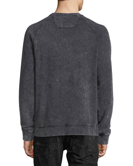 Faded Denim Artisan Sweatshirt