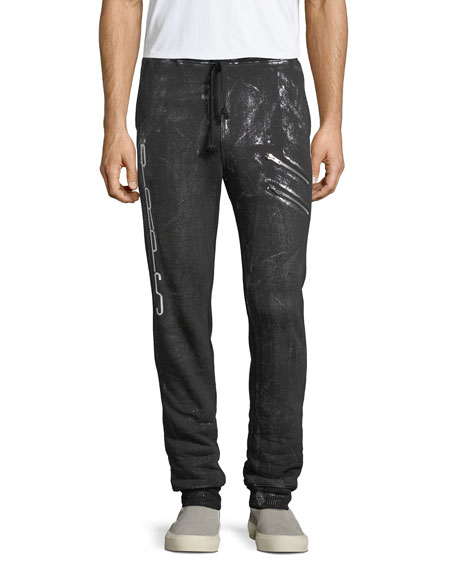 Spray-Paint Logo Jogger Pants