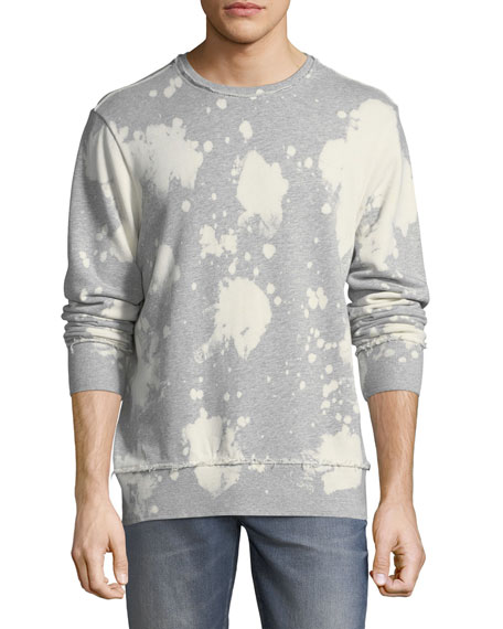 Bleached Distressed-Edge Sweatshirt
