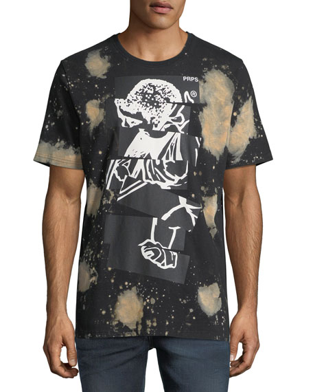 Bleached Cut & Paste Logo T-Shirt