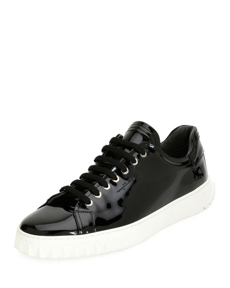 Salvatore Ferragamo Patent Leather Low-Top Sneaker
