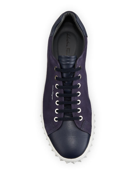 CLYDE CALF SKIN LOW TOP SNEA