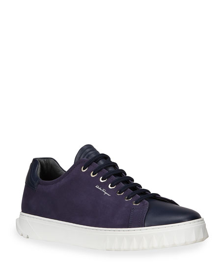 Salvatore Ferragamo CLYDE CALF SKIN LOW TOP SNEA