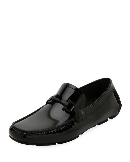 Men's Patent Leather Gancini Driver