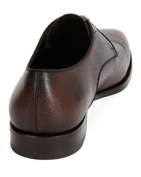 Textured Calfskin Leather Blucher
