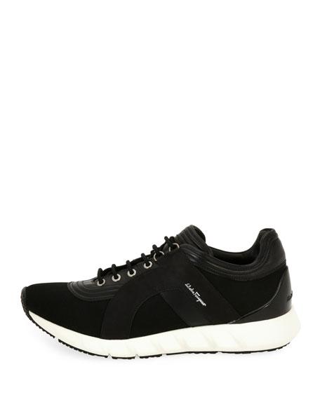 Mixed-Media Trainer Sneaker