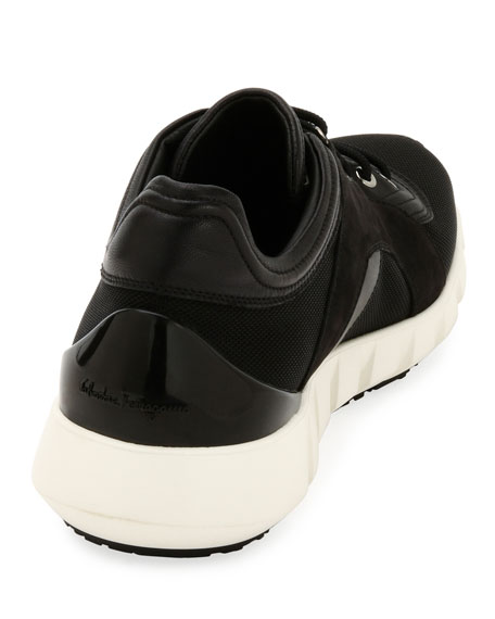 Men's Mixed-Media Trainer Sneakers