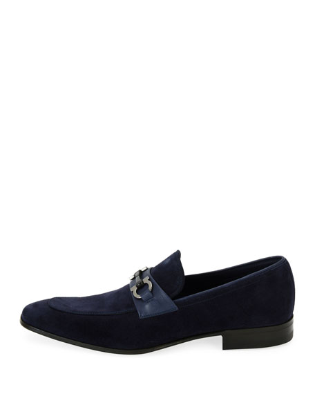 Men's Suede Slip On Gancini Loafer