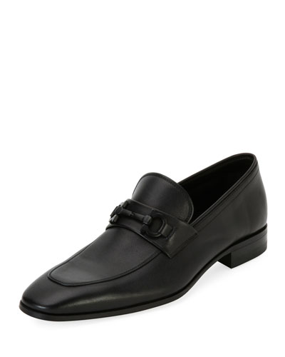 Men's Soft Calfskin Slip On Gancini Loafer