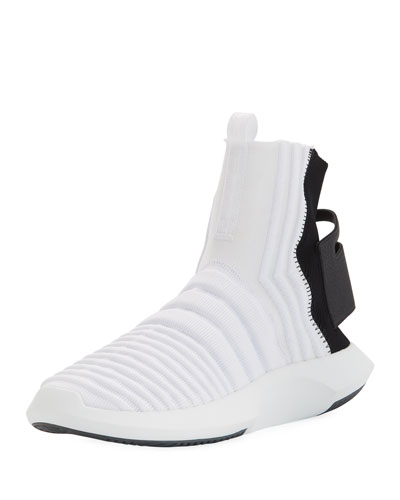 low priced 9f243 98dbd Adidas Mens Crazy 1 ADV High-Top Sock Sneakers