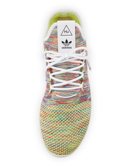 x Pharrell Williams Men's Hu Race Tennis Sneakers, White/Multi