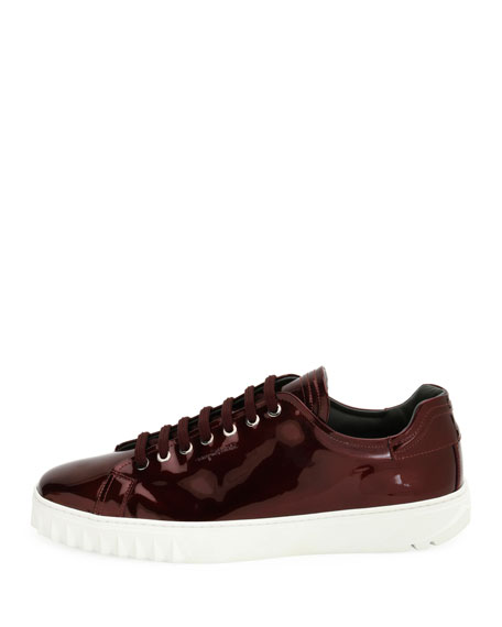 Men's Patent Leather Low-Top Sneaker