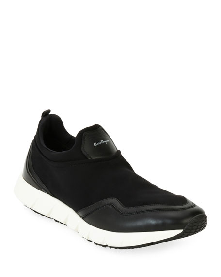 Men's Neoprene & Leather Trainer Sneaker