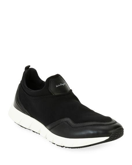 Neoprene & Leather Trainer Sneaker