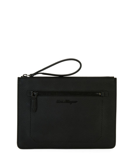 Salvatore Ferragamo Men's Medium Leather Portfolio Case