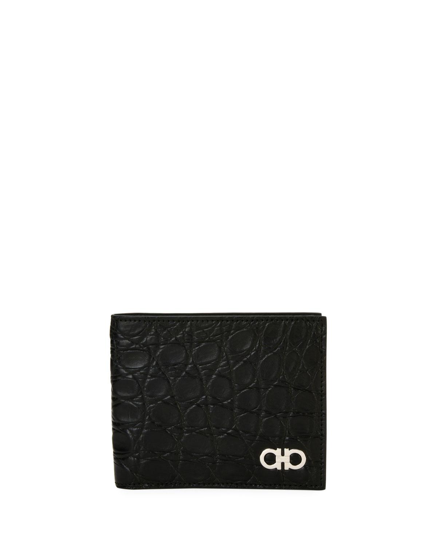 Salvatore Ferragamo Men s Crocodile 8-Card Bi-Fold Wallet  6d0aa7074b4b0