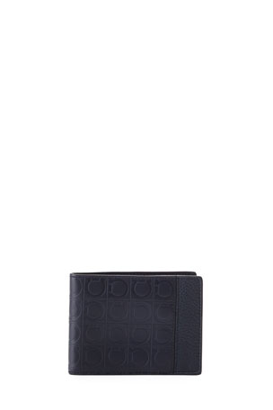 Salvatore Ferragamo Men's Firenze Gamma Bi-Fold Card Case
