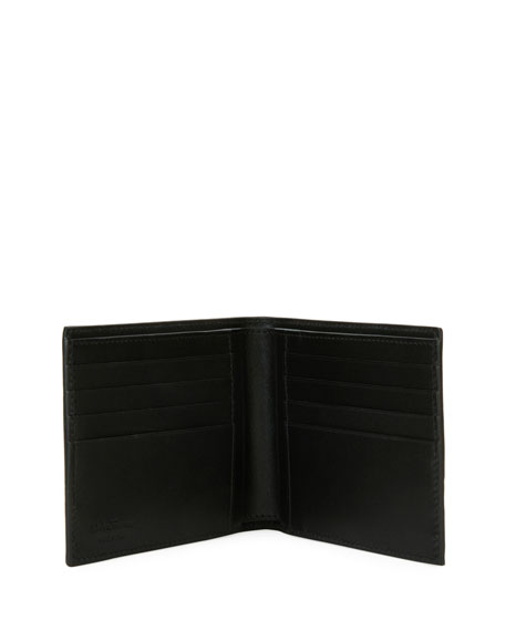 Men's Ostrich-Leg 8-Card Bi-Fold Wallet