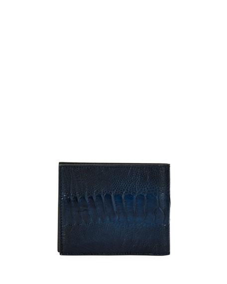 Ostrich-Leg 8-Card Bi-Fold Wallet