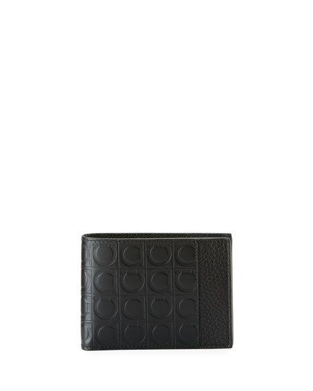 Salvatore Ferragamo Men's Firenze Gamma Bi-Fold Leather Wallet