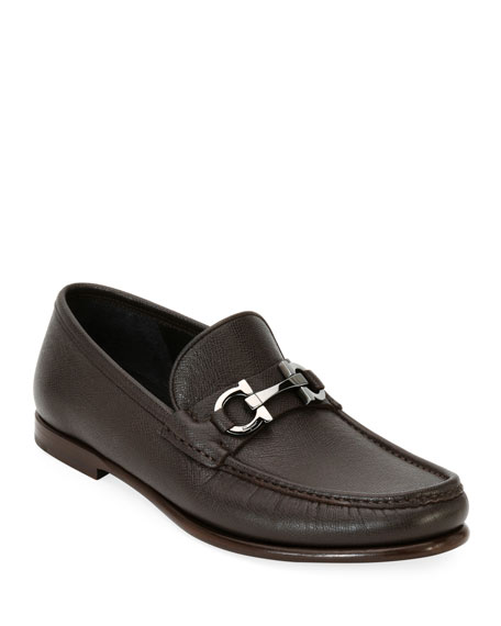 Men's Textured Leather Gancini Loafer