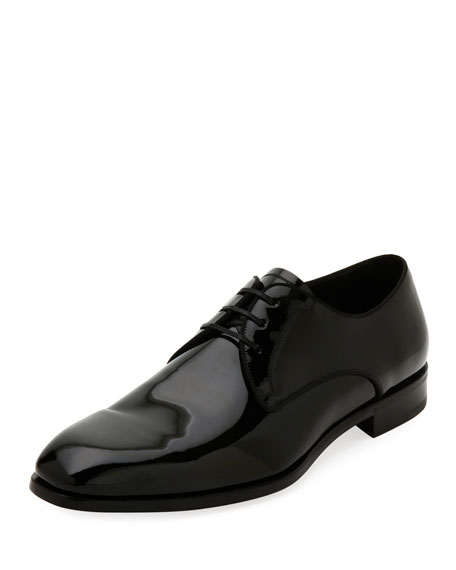 Patent Leather Blucher Lace Up