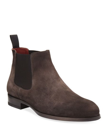 Magnanni for Neiman Marcus Suede Low Gored Chelsea