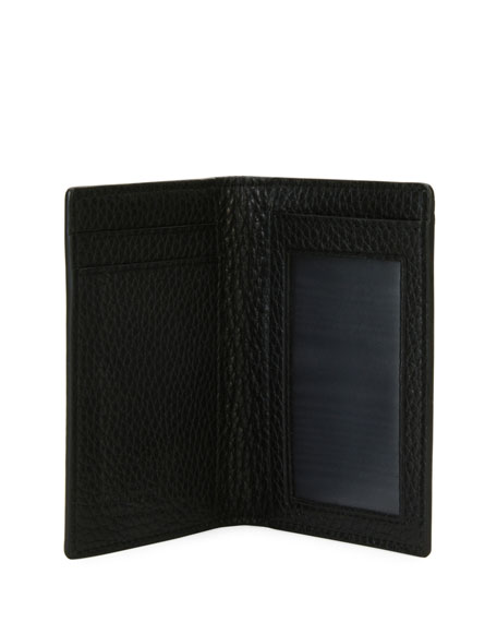 Men's Gancio-Embossed Leather Card Case