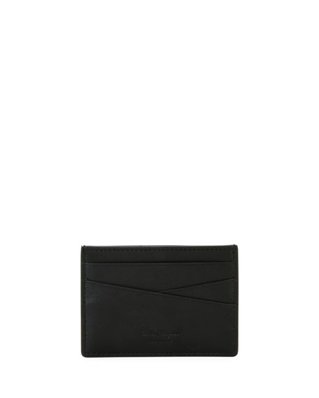 Tonal Gancini Leather Card Case