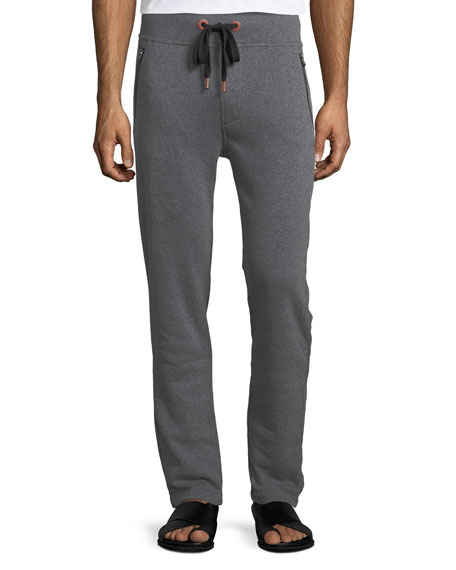 True Religion Paint-Splatter Horseshoe Sweatpants