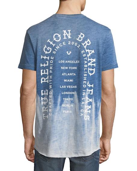 Ombre Slub Jersey Logo T-Shirt