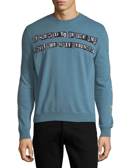 Valentino The Next Beginning Intarsia Sweater
