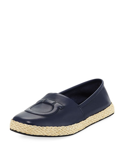 Leather Gancio Espadrille