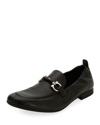 Celso Elastic-Back Gancini Slip-On Loafer