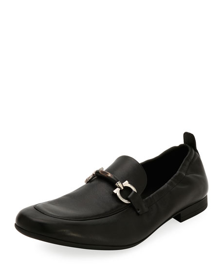 Salvatore Ferragamo Men's Celso Elastic-Back Gancini Slip-On