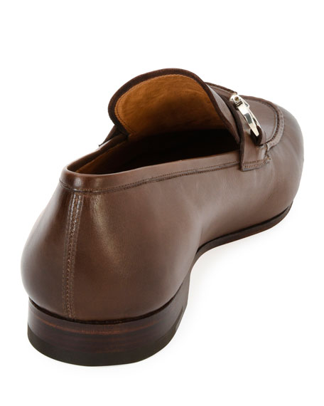Men's Tramezza Leather Gancini-Belt Loafer