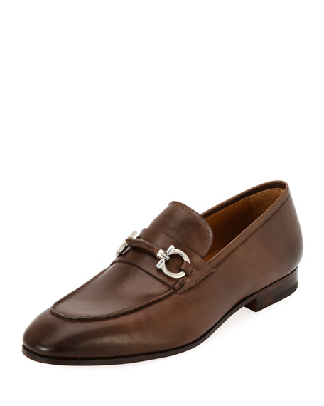 Salvatore Ferragamo Men's Tramezza Leather Gancini-Belt Loafer