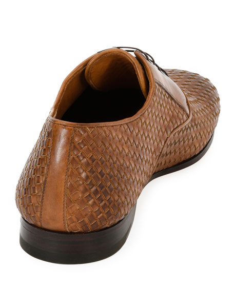 Men's Tramezza Woven Leather Oxford Shoe