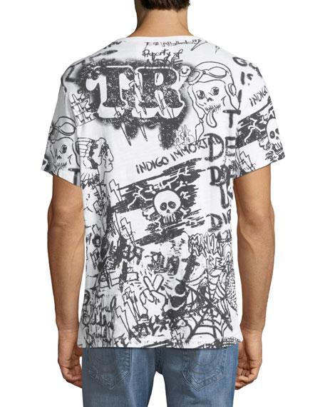 Graffiti-Print Cotton T-Shirt
