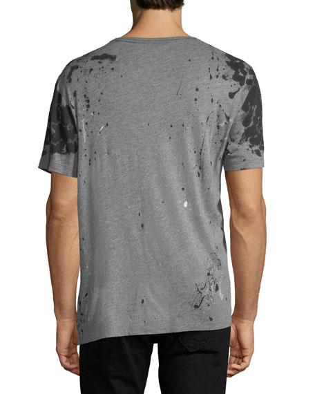 Paint-Splatter Cotton T-Shirt