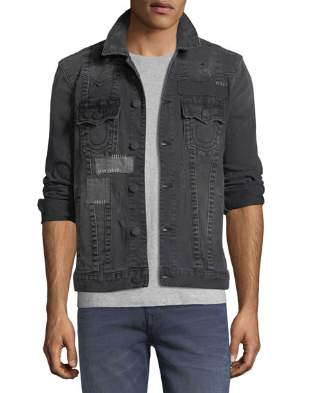 True Religion Jimmy Patchwork Denim Jacket