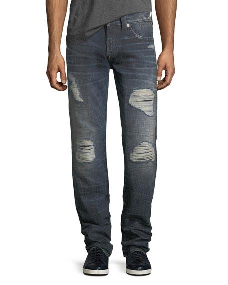 Geno Distressed Slim-Straight Jeans