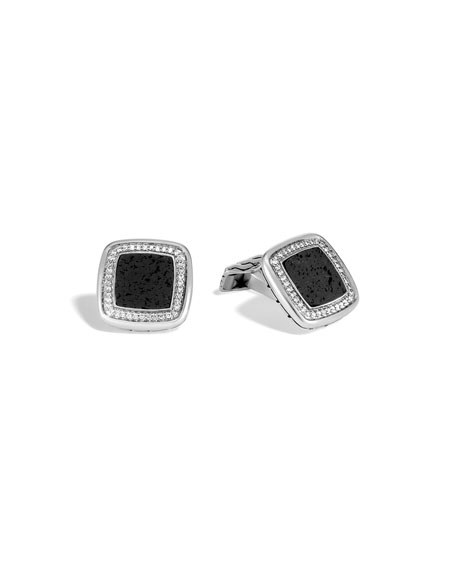 John Hardy Men's Classic Chain Square Cuff Links