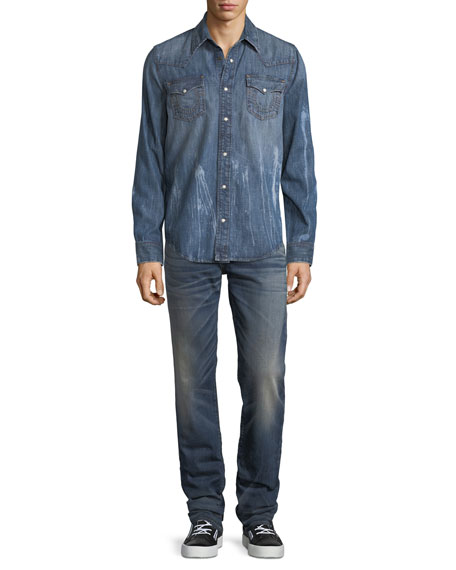 Geno Slim-Straight Stretch Denim Jeans