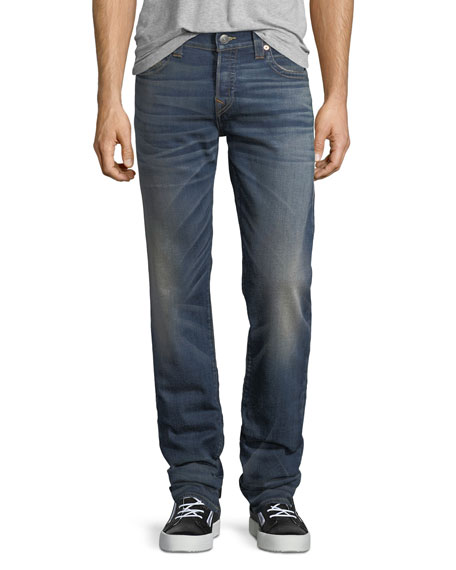True Religion Geno Slim-Straight Stretch Denim Jeans