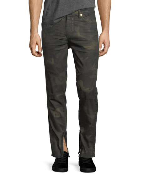 Racer Camouflage Tapered Skinny Jeans