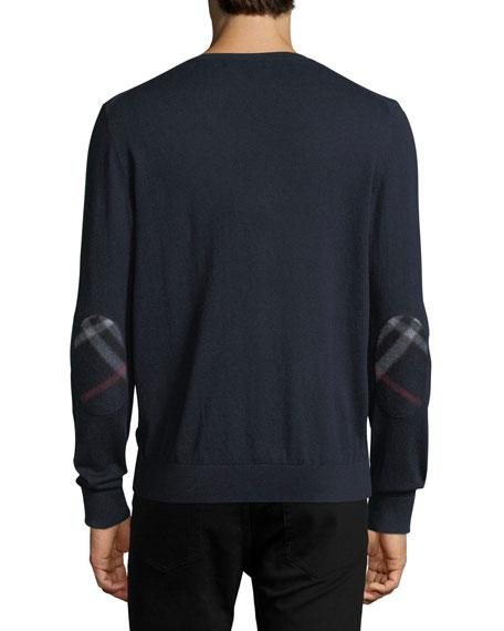 Randolf Cashmere-Cotton Sweater, Navy