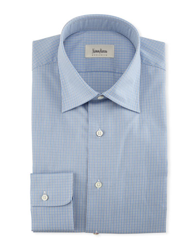 Small-Check Dress Shirt