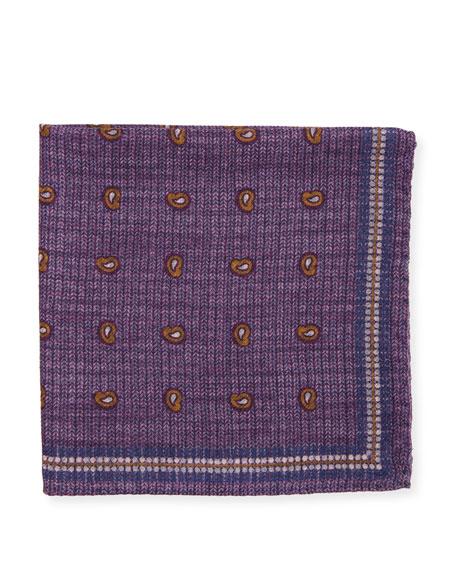 Edward Armah Neat Paisley & Check Silk Pocket