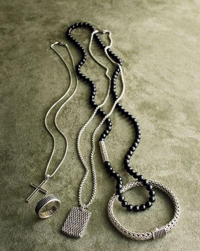 Men's Classic Chain Silver Jawan Flat Chain Bracelet